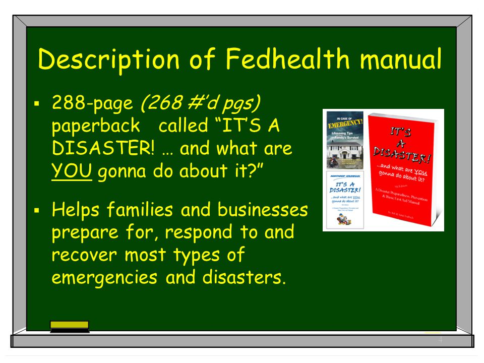 5 Description of Fedhealth manual  Quick-reference instructional bullets using 2-color format  Easy-to-use manual for all family members… children to seniors.