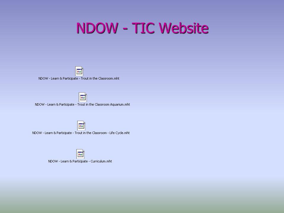 NDOW - TIC Website