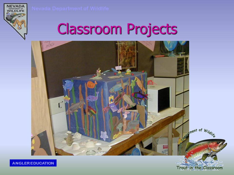 Classroom Projects Nevada Department of Wildlife ANGLER EDUCATION