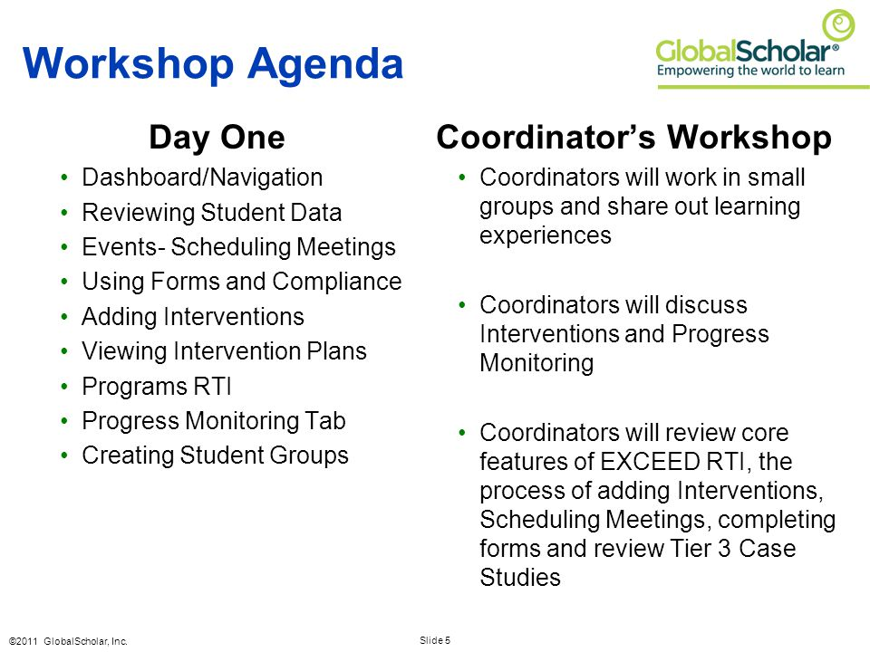 Slide 26 ©2011 GlobalScholar, Inc.ACTIVITY: Schedule New Meetings Use student #2.