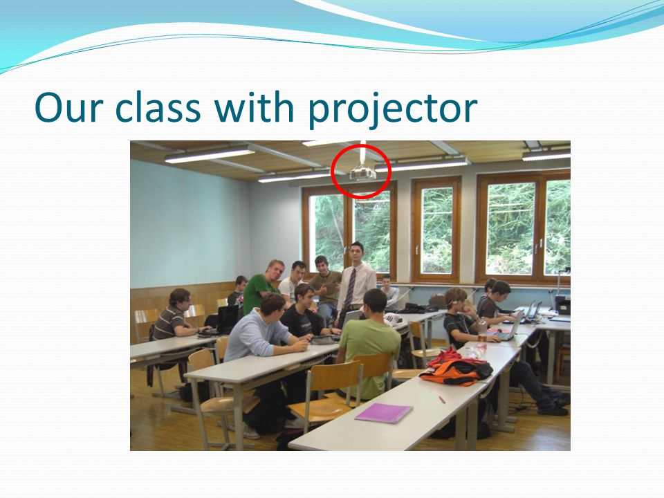 Our class with projector