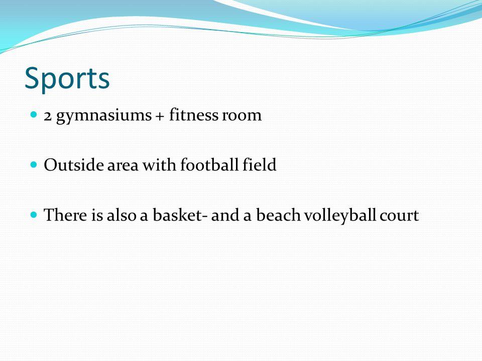 Sportsground football field basketball + beach volleyball court