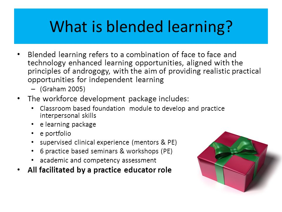 What is blended learning.