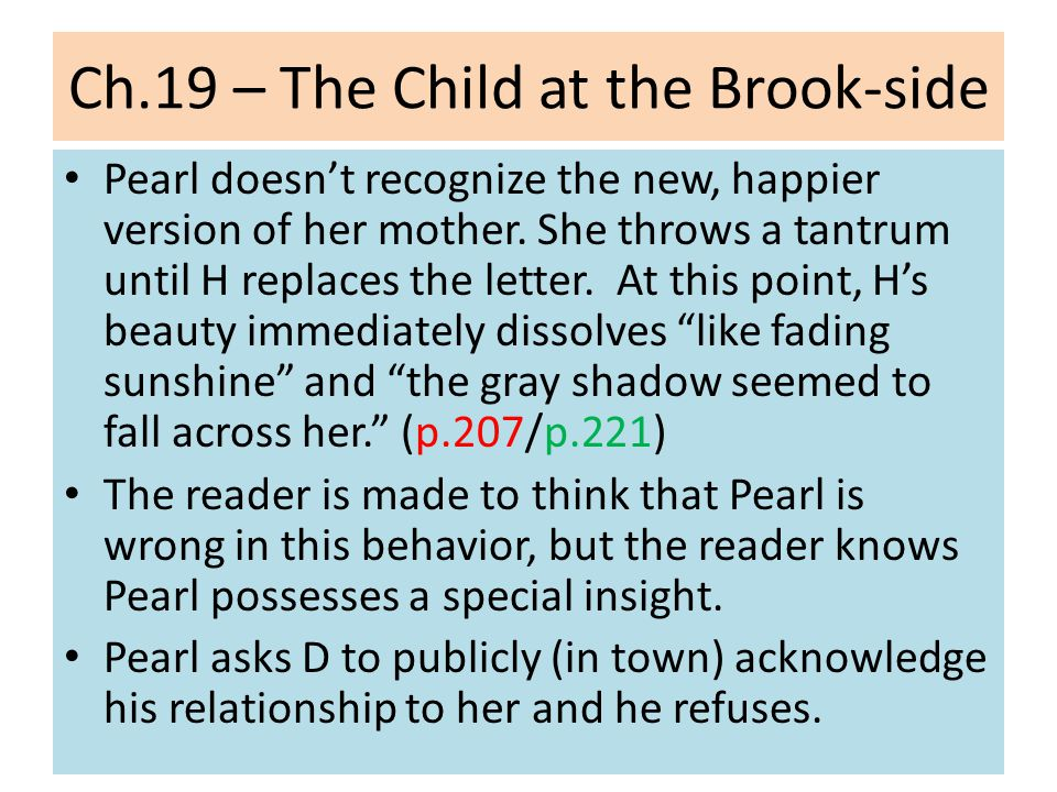 Ch.19 – The Child at the Brook-side Is fleeing to Europe a successful attempt to follow a higher truth, a newer, better moral code.