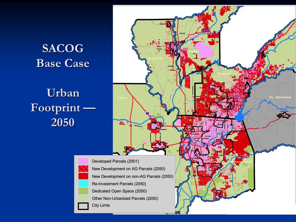 SACOG Base Case Urban Footprint — 2050