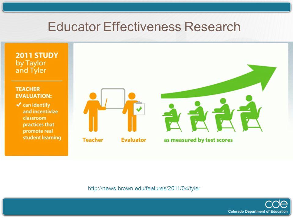 Educator Effectiveness Research http://news.brown.edu/features/2011/04/tyler