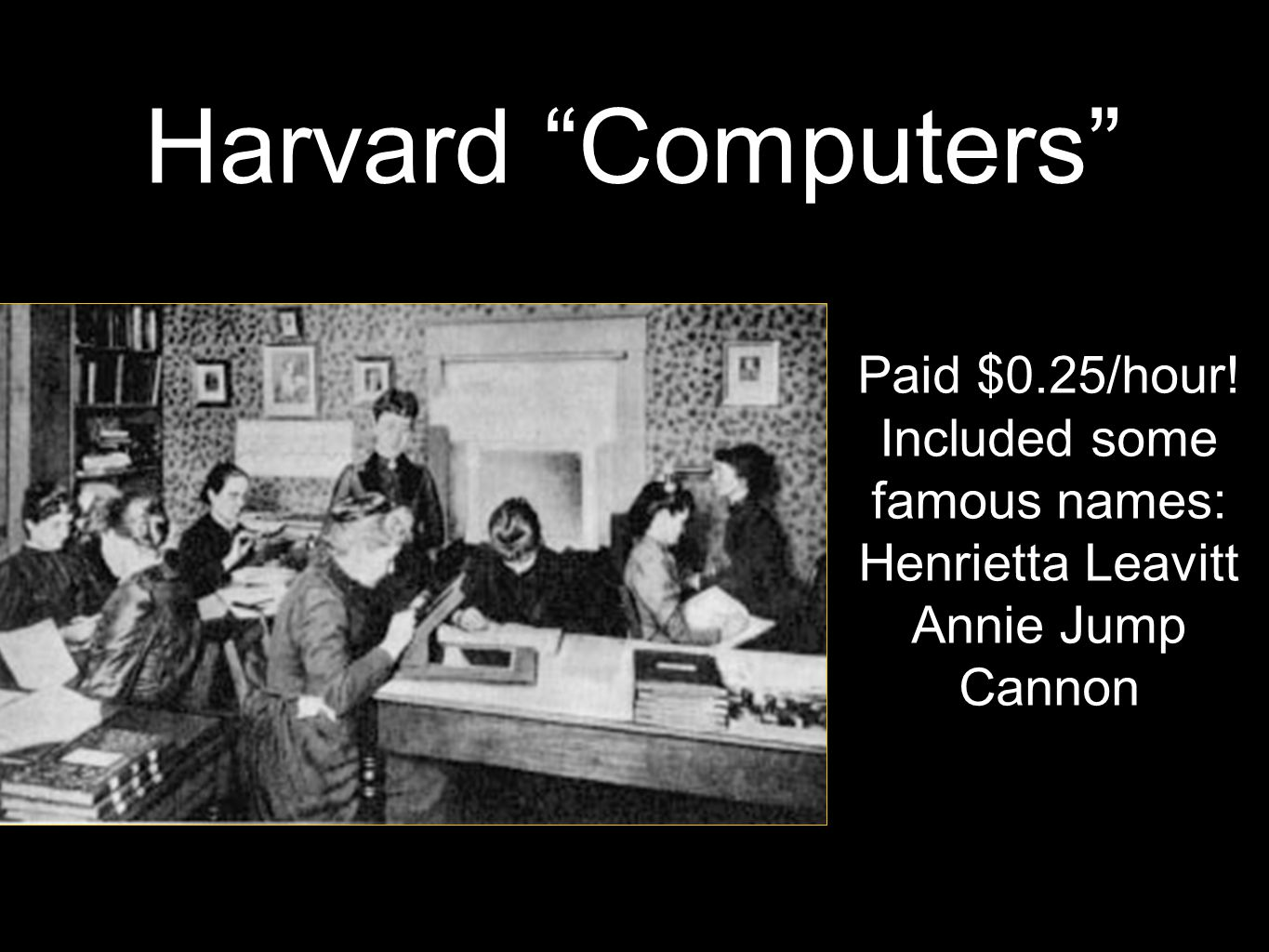Harvard Computers Paid $0.25/hour.