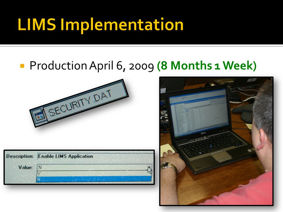  Production April 6, 2009 (8 Months 1 Week)