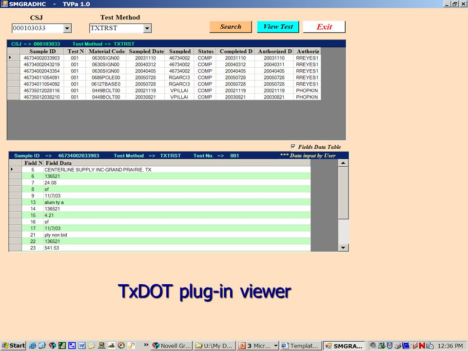 TxDOT plug-in viewer