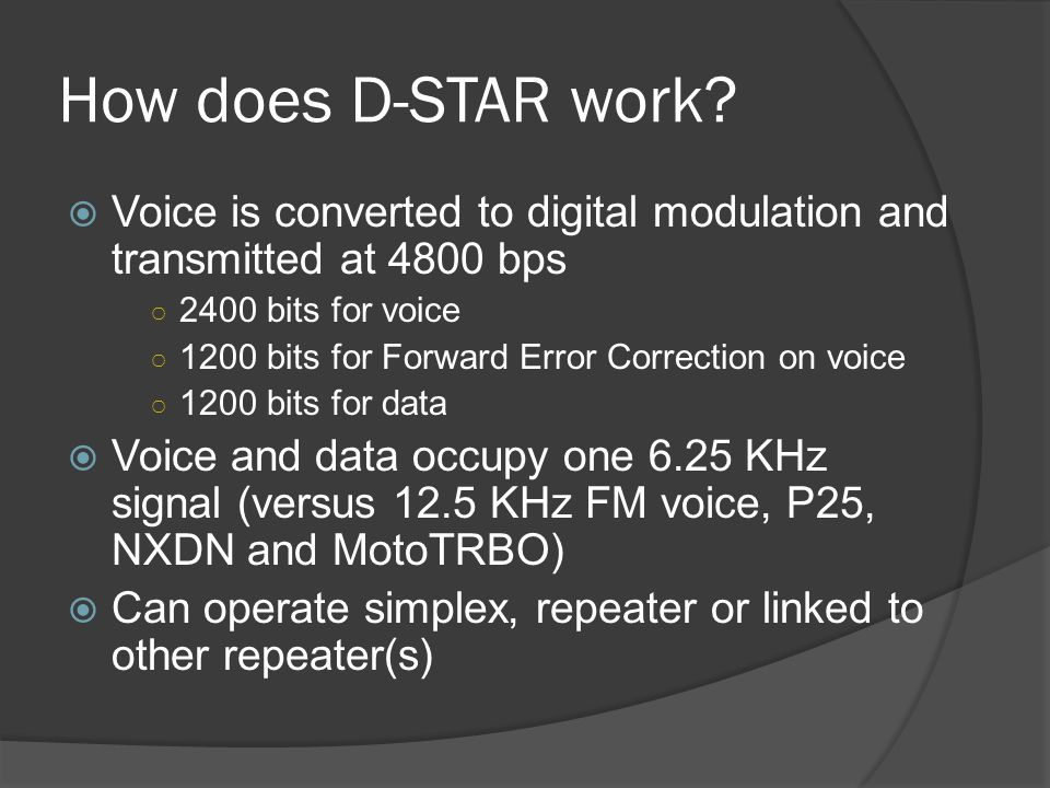 How does D-STAR work.