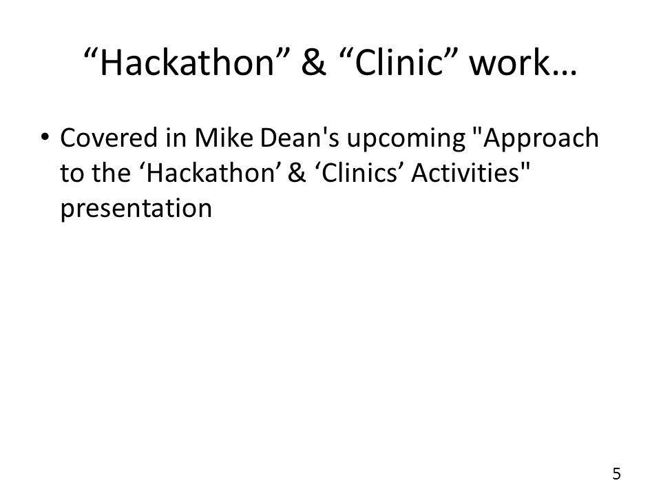 """""""Hackathon"""" & """"Clinic"""" work… 5 Covered in Mike Dean's upcoming"""