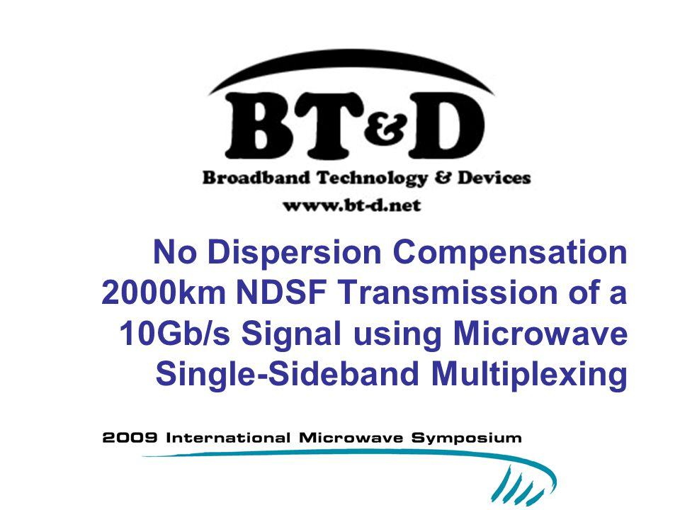No Dispersion Compensation 2000km NDSF Transmission of a 10Gb/s Signal using Microwave Single-Sideband Multiplexing