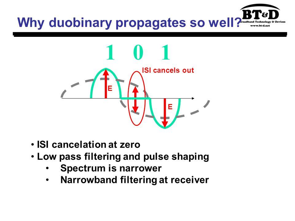 Why duobinary propagates so well.
