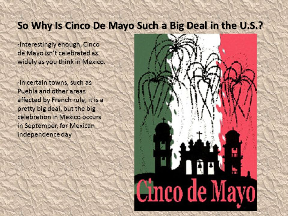 So Why Is Cinco De Mayo Such a Big Deal in the U.S..