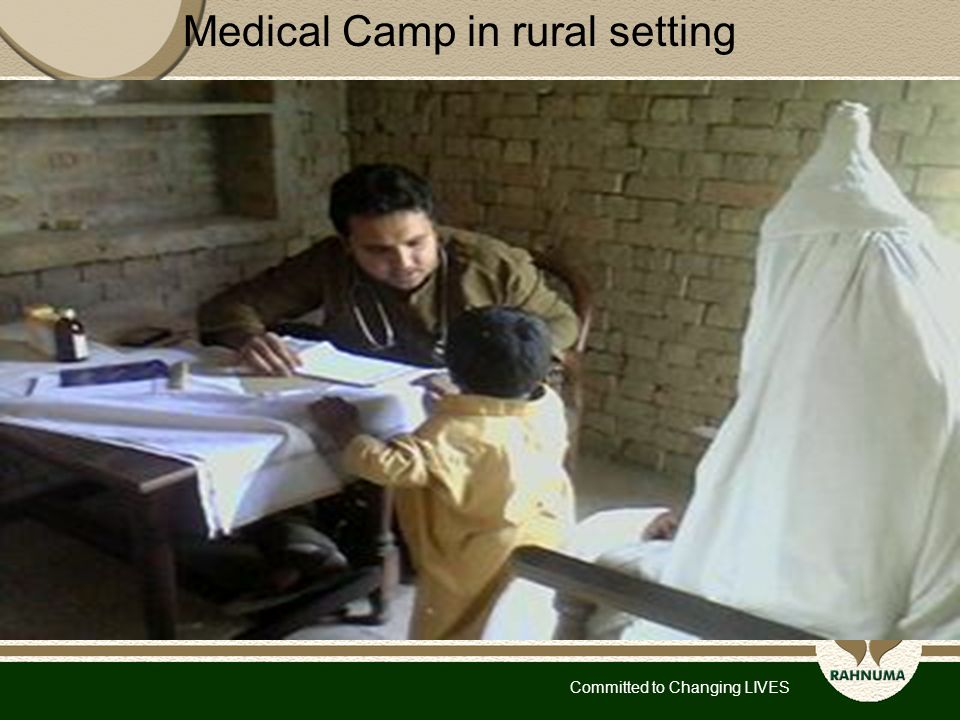 Committed to Changing LIVES Medical Camp in rural setting