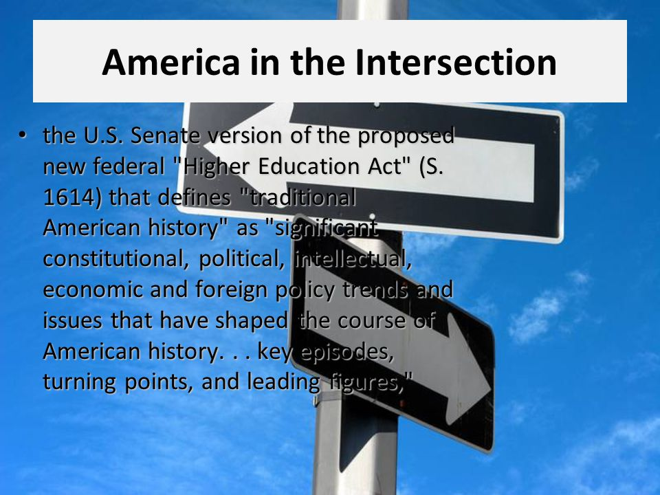 America in the Intersection the U.S.