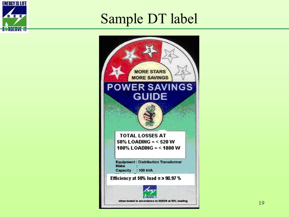 19 Sample DT label