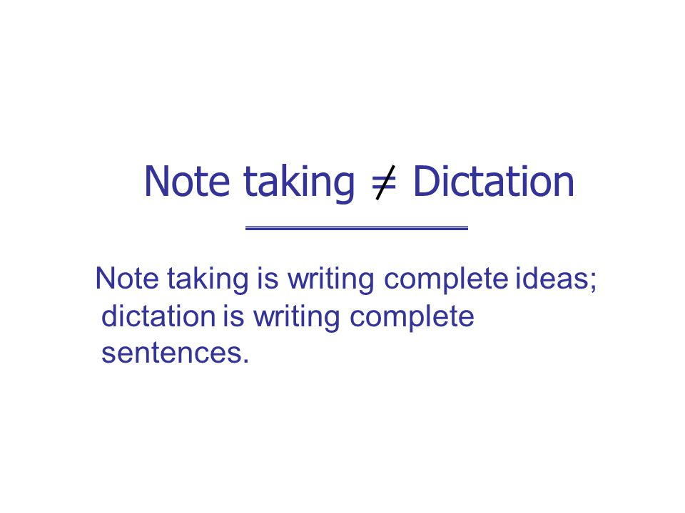 Note taking Why take.