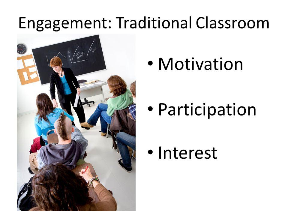 Engagement: Online Classroom Motivation Participation Interest What changes?