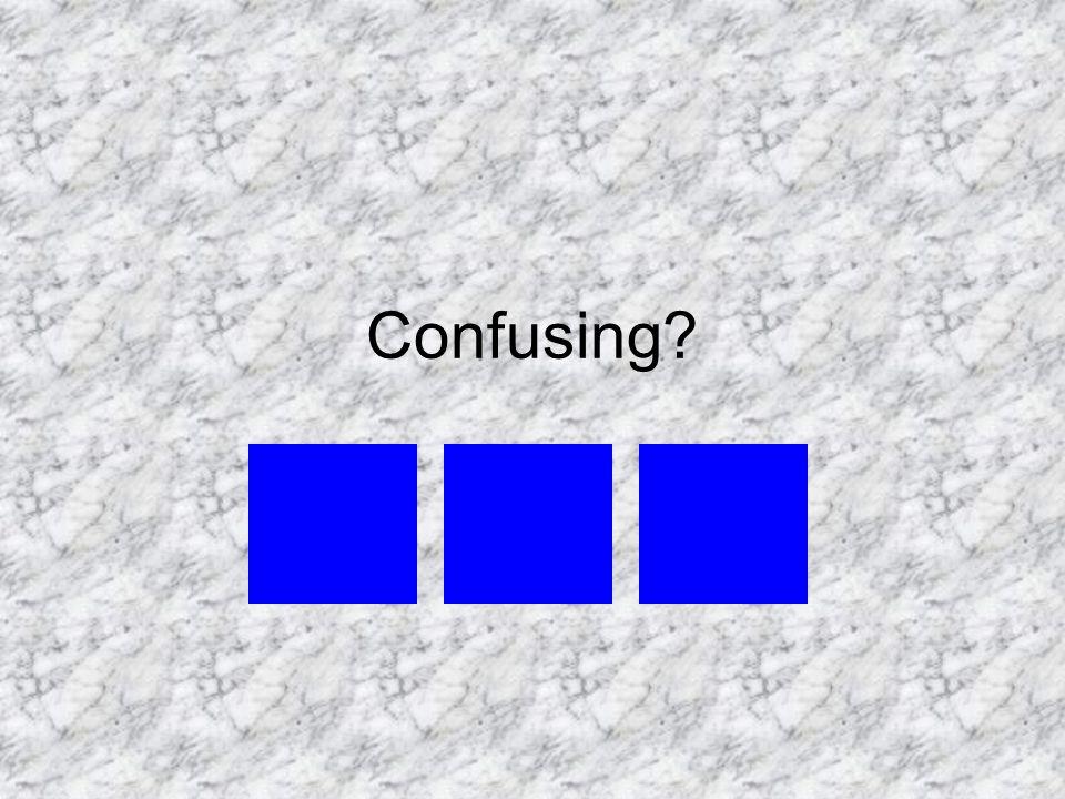 Confusing?