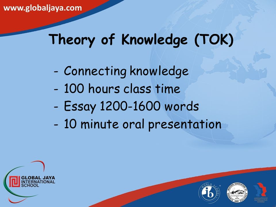 Extended Essay (EE) Original research Up to 4000 words 40 hours private study time From 22 subjects Assigned Supervisor