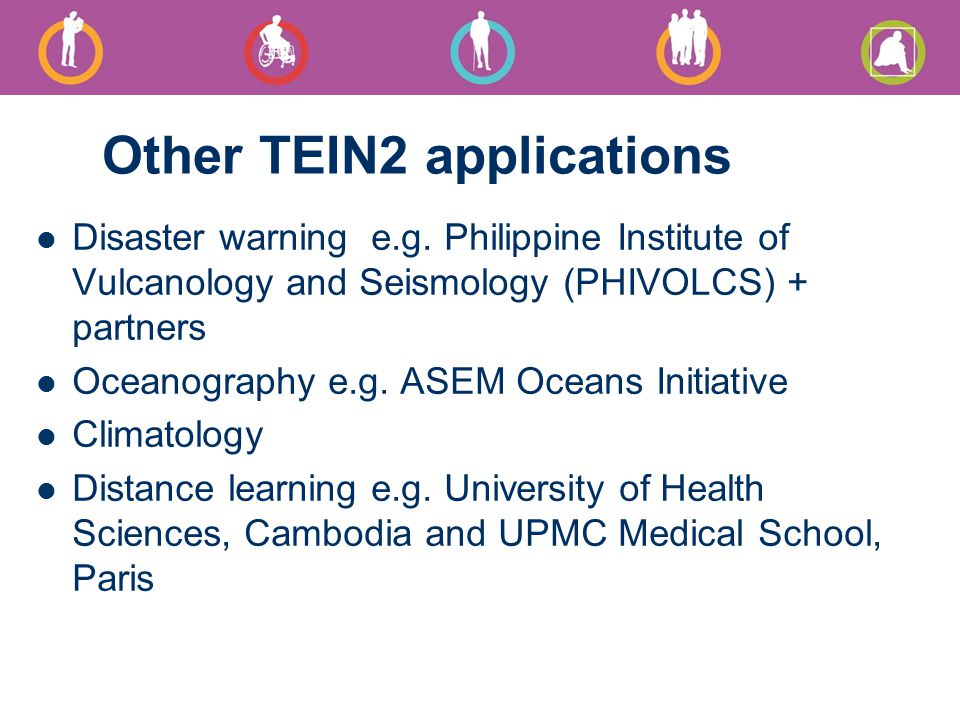 Other TEIN2 applications Disaster warning e.g.