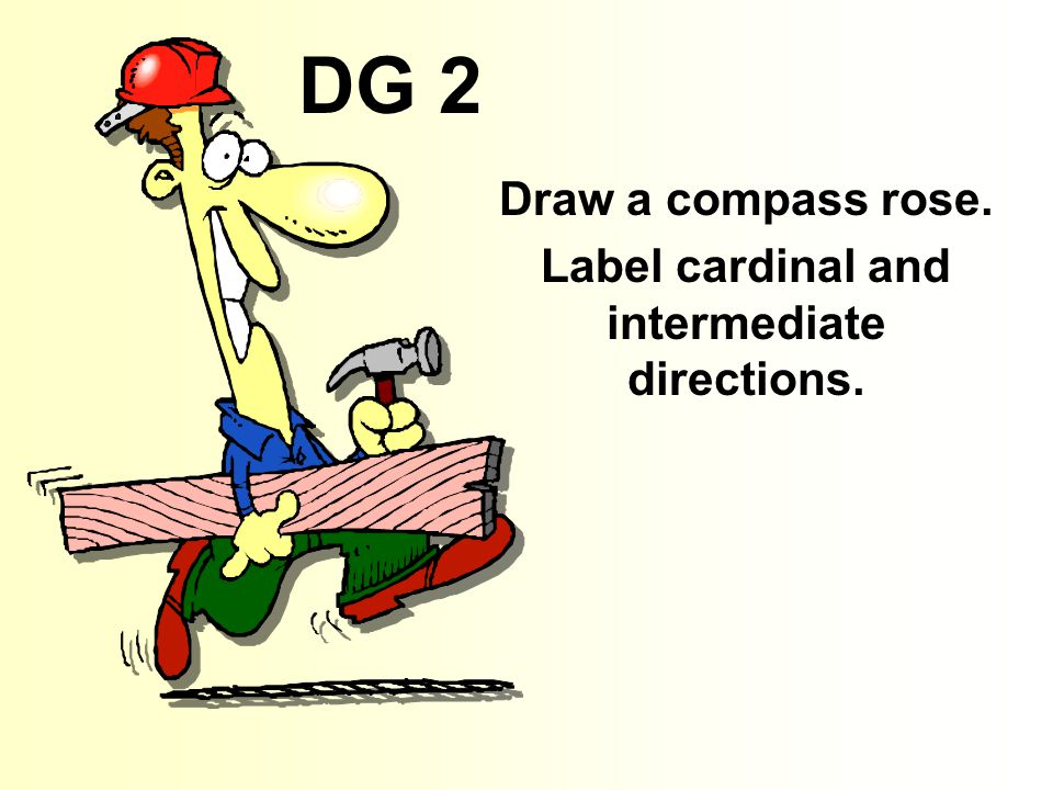 DG 2 Draw a compass rose. Label cardinal and intermediate directions.