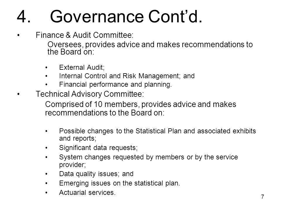7 4. Governance Cont'd.