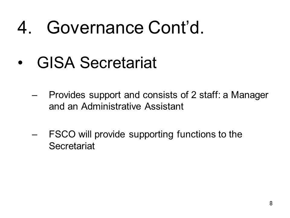 8 4.Governance Cont'd.