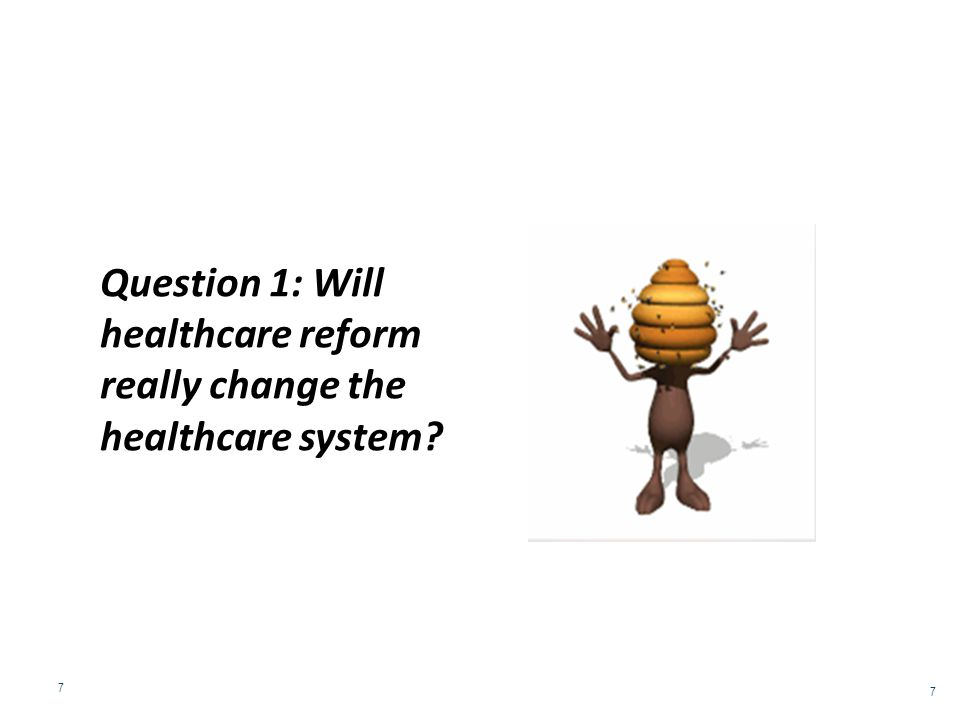 Question 2: If healthcare reform results in the shift from a sick care system to a health care system, how will this affect Americans with a co-occurring disorder.