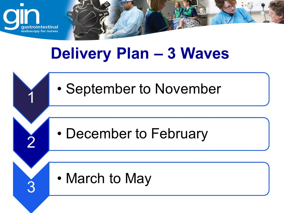 Delivery Plan – 3 Waves 1 September to November 2 December to February 3 March to May