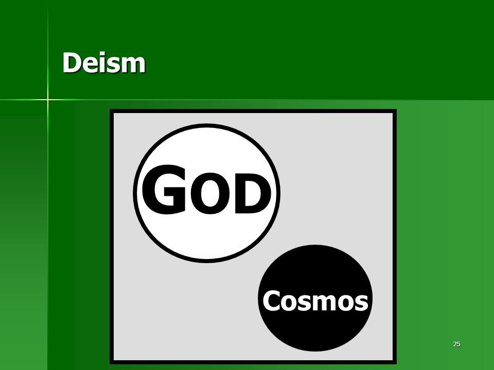 25 Deism G OD Cosmos
