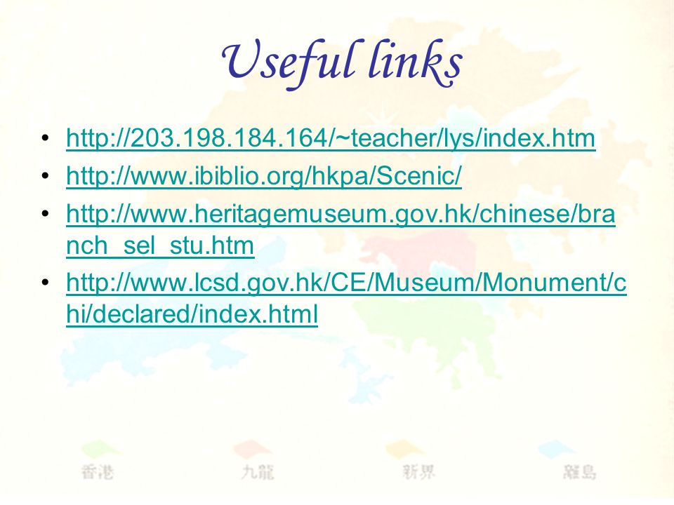 Useful links nch_sel_stu.htmhttp://  nch_sel_stu.htm   hi/declared/index.htmlhttp://  hi/declared/index.html