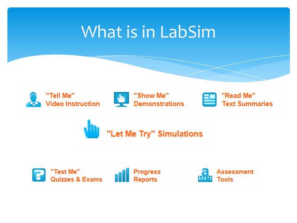 What is in LabSim