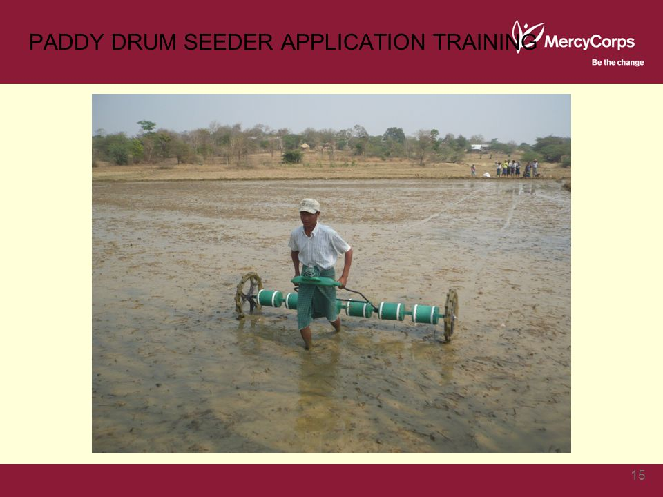 PADDY DRUM SEEDER APPLICATION TRAINING 15