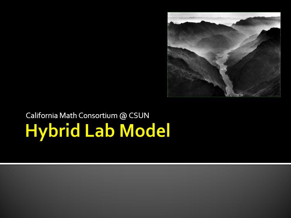 California Math Consortium @ CSUN