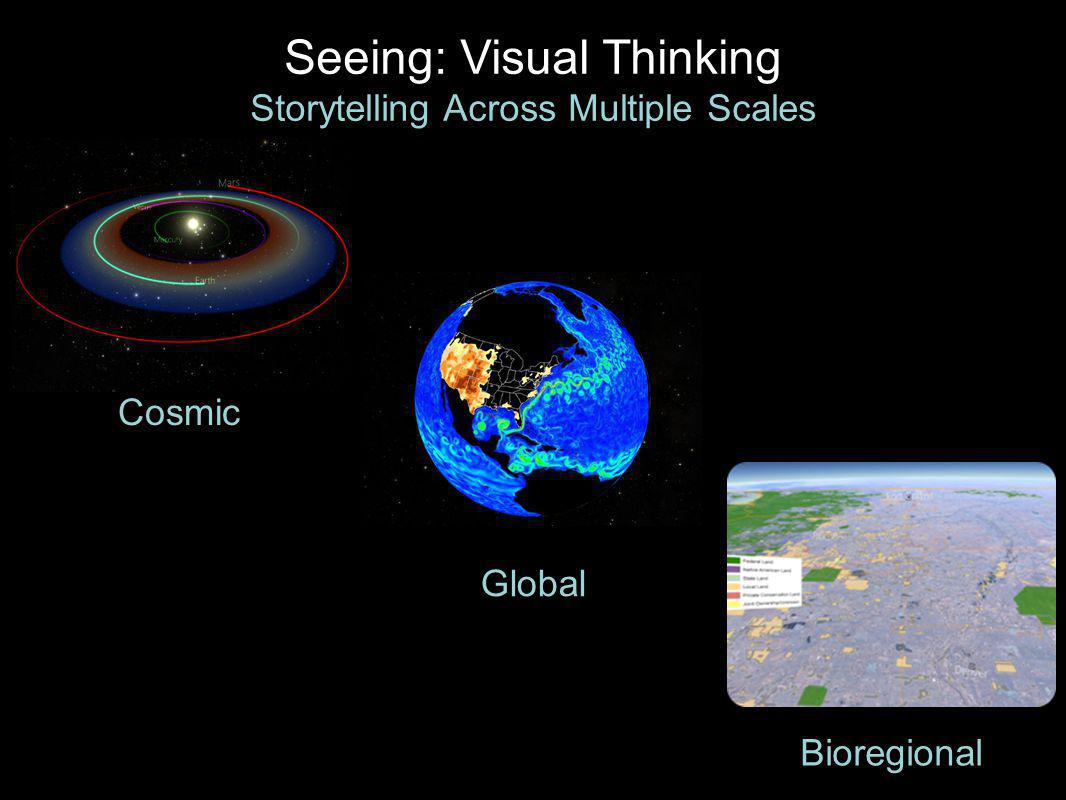 Cosmic Bioregional Global Seeing: Visual Thinking Storytelling Across Multiple Scales