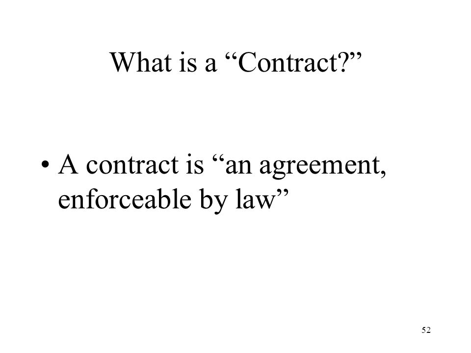 C. Contracts and Contract Law