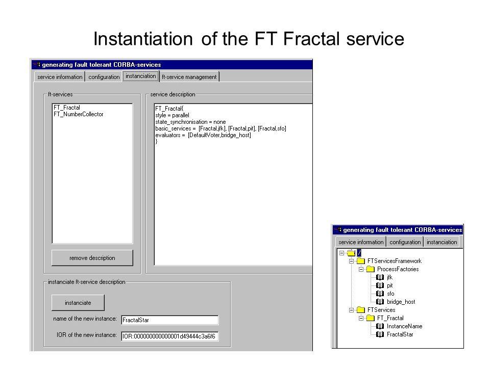Instantiation of the FT Fractal service