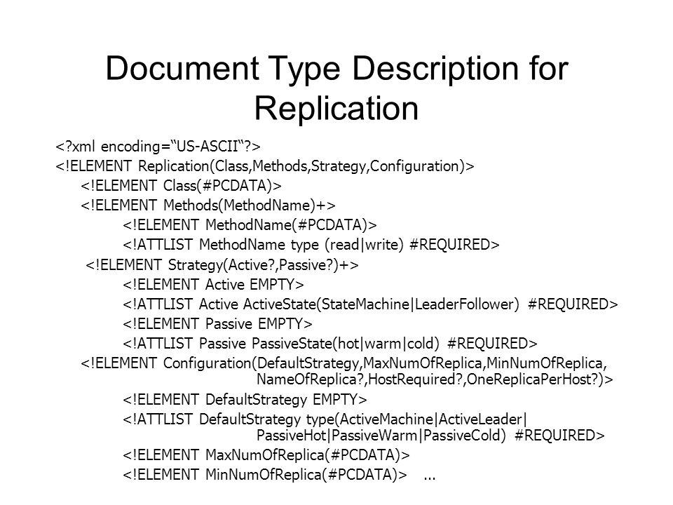 Document Type Description for Replication...