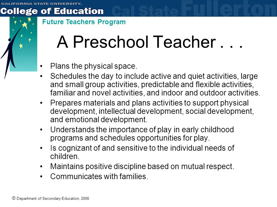 © Department of Secondary Education, 2006 Future Teachers Program What is Special Education.