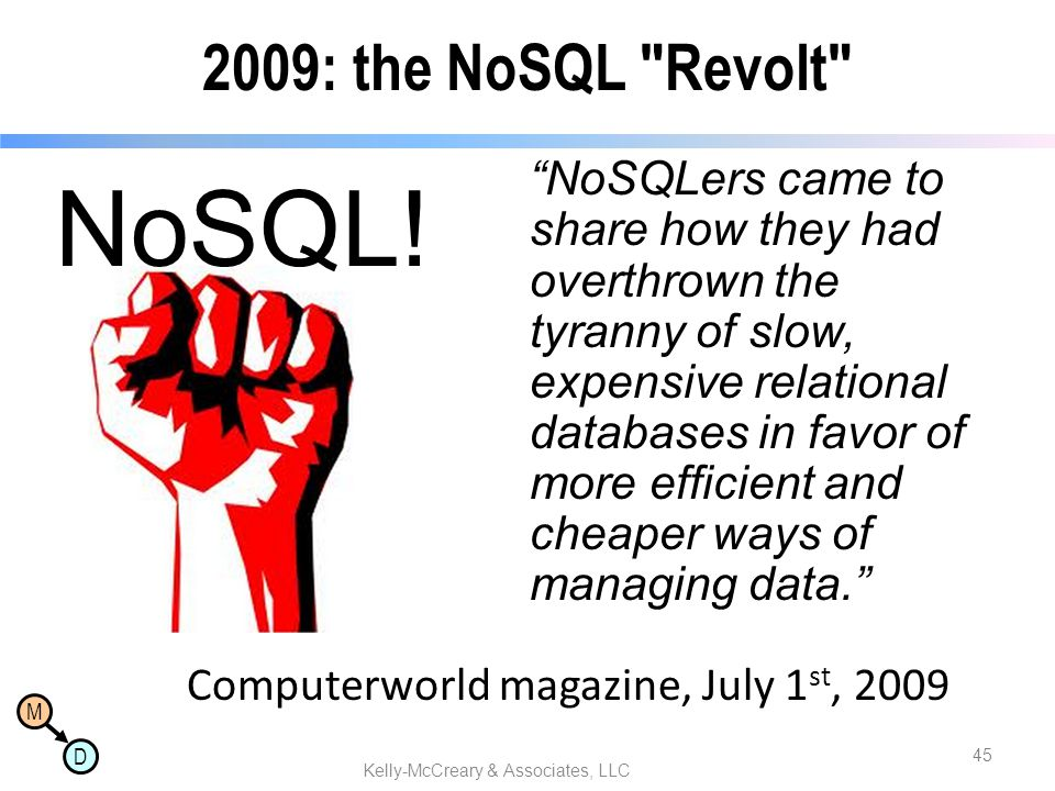 M D 2009: the NoSQL