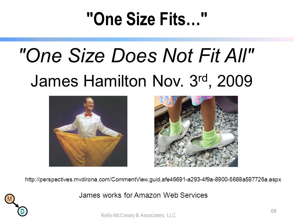 M D One Size Fits… One Size Does Not Fit All James Hamilton Nov.