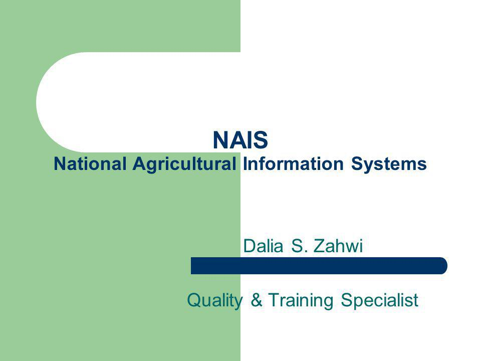 Agenda NAIS Users Management System and Workflow Document Repository module Institutions module Researchers module News , Events , Country Reports , Good Practices modules documents/publications Workflow Management System