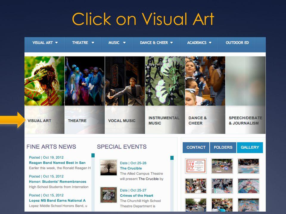 Click on Visual Art