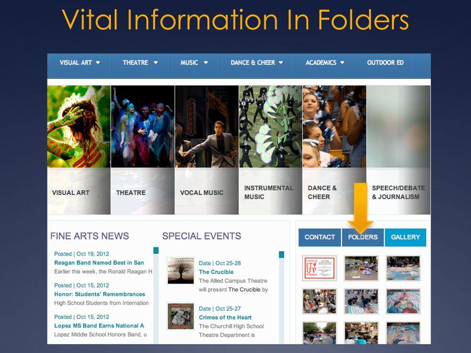 Vital Information In Folders