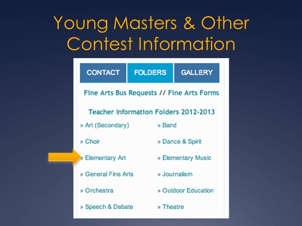 Young Masters & Other Contest Information