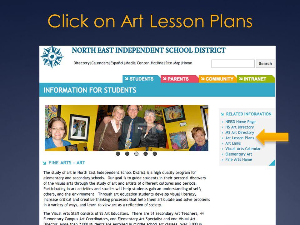 Click on Art Lesson Plans