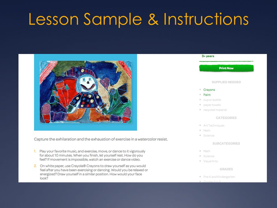 Lesson Sample & Instructions