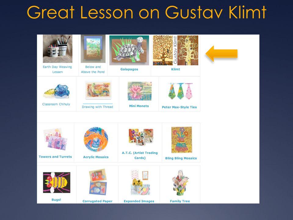 Great Lesson on Gustav Klimt